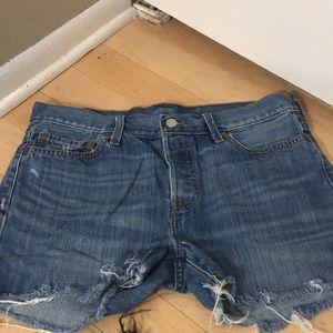 "LEVIS Vintage Button Fly 501 ""Cut Off"" Jean Shorts"